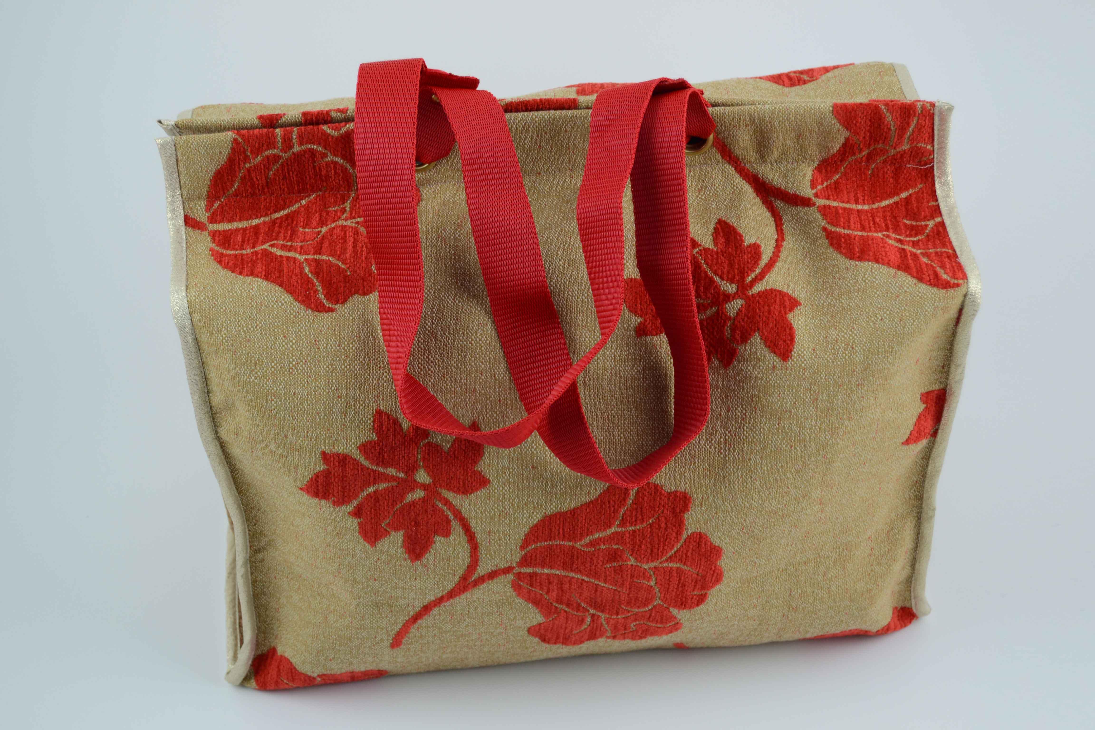 25d88fa08 Bolso de tela de tapicería beige - La Sombrerera