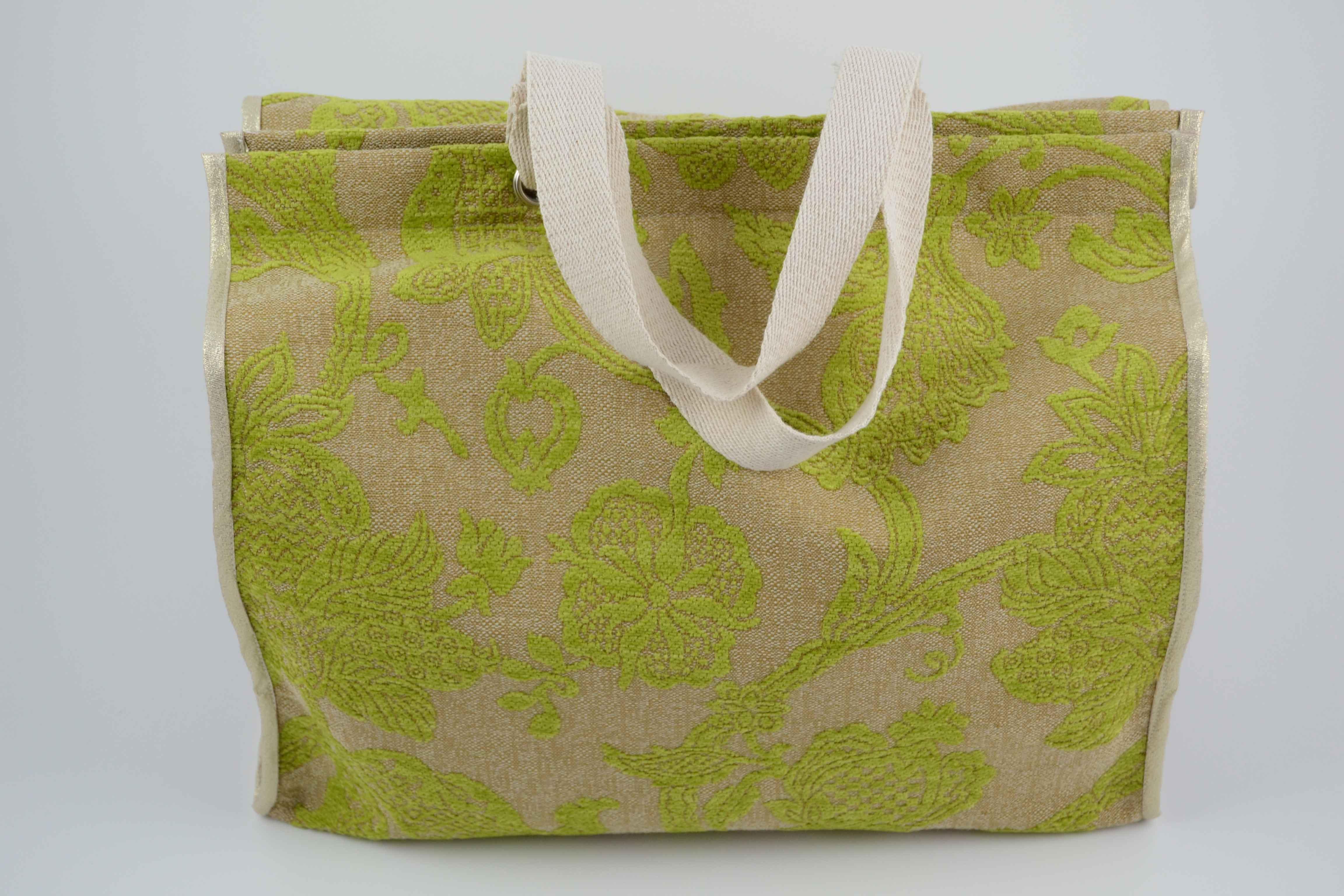 8bacd6353 Bolso de tela de tapicería verde lima - La Sombrerera