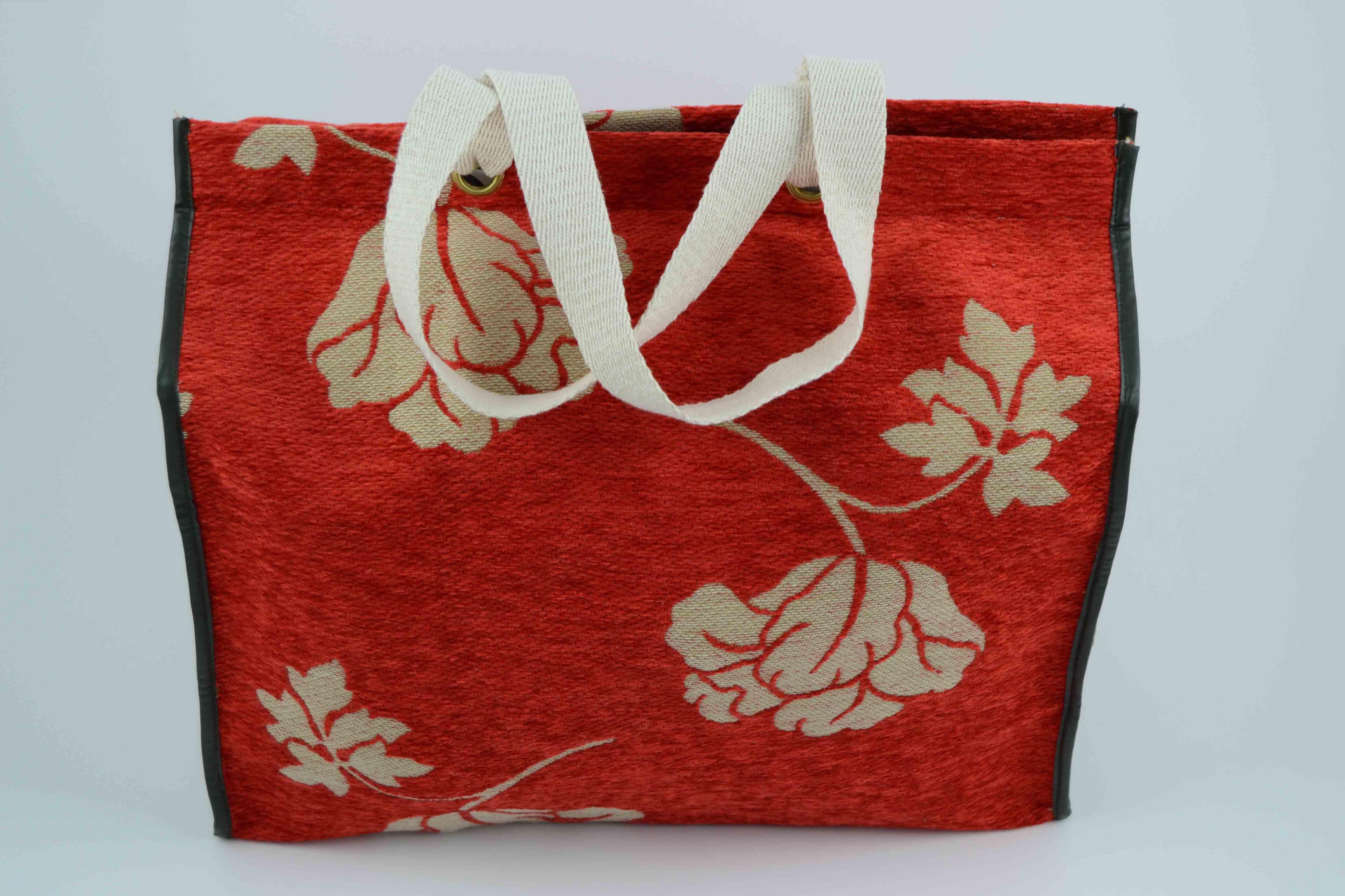 daab03791 Bolso de tela de tapicería naranja - La Sombrerera